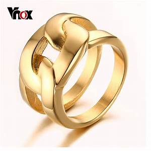 vnox gold plated rings for men trendy x cross long rings With long wedding rings