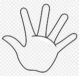 Hand Outline Printable Coloring Middle Transparent Clipart sketch template
