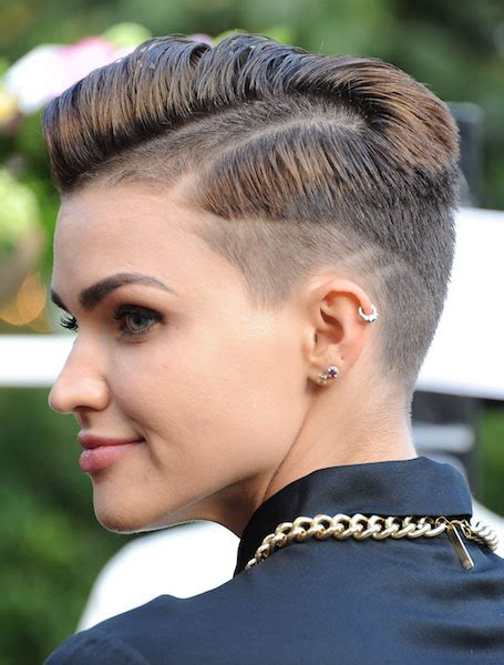 short hair tapered   hair style  color  woman