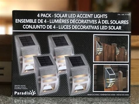 costco solar lights paradise 4 pack solar led accent lights fence lighting