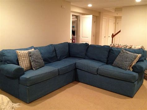 exciting denim sectional sofa design  living room