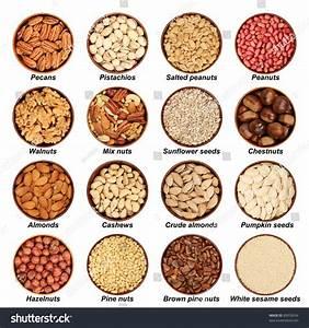 Nut Mix Hazelnuts Peeled Almonds Walnuts Stock Photo ...