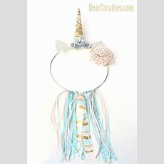 """Unicorn Dream Catcher Diy """"easy To Make"""" With Step By Step"""