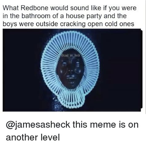 Redbone Memes - what redbone would sound like if you were in the bathroom of a house party and the boys were