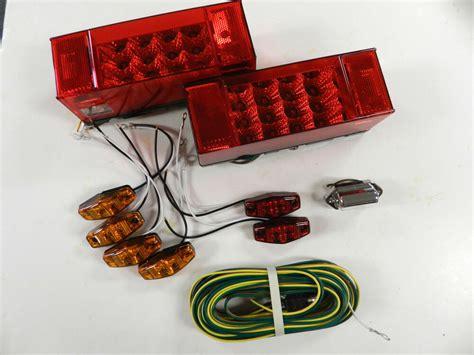 Led Submersible Trailer Lights by Submersible Trailer Rectangle Led Light Kit Stop Turn