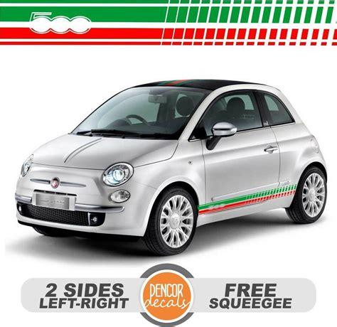 Fiat 500 Decals by Fits Fiat 500 Abarth Vinyl Racing Stripe Decal Sticker 21