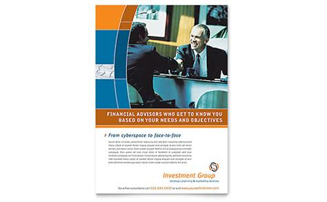 investment services powerpoint  template design