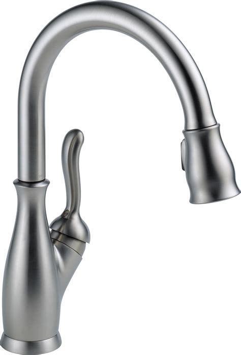 amazon com kitchen faucets delta faucet 9178 rb dst leland single handle pull