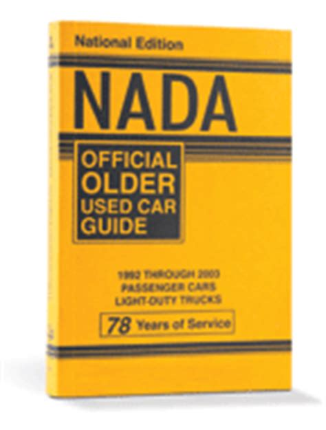 Nada Official Older Used Car Guide Nadaguides