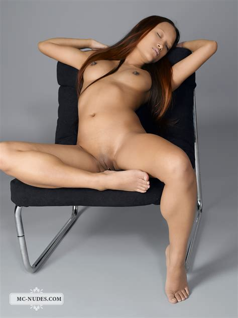 sexy asian ayla sky spread her pussy lips on the chair asian sex