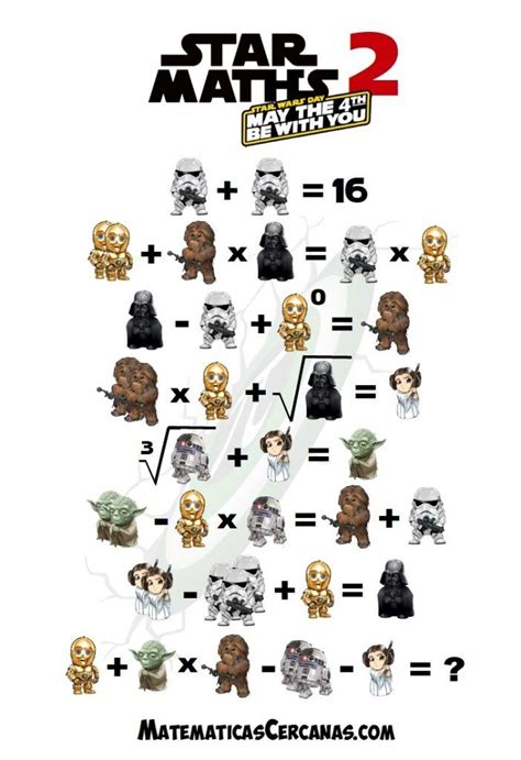 Star Maths 2 – May the 4th be with you – Star Wars Day ...
