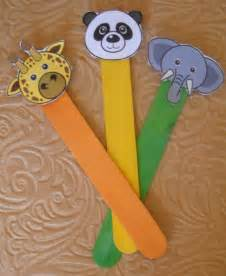 Animal Stick Puppets Craft