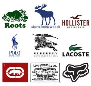 Name Brand Clothing Logos
