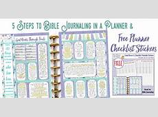 5 Steps to Bible Journaling in a Planner & Free Planner