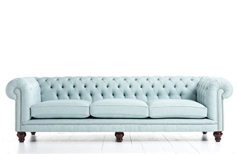 Chesterfield Fabric Sofa by Fabric Chesterfield Sofa