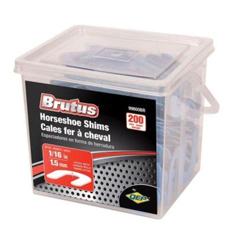 brutus 1 16 in horseshoe shim tile spacers pail of 200