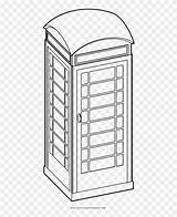 Booth Coloring Telefonica Cabina Dibujar Phone Clipart Pikpng Complaint Copyright sketch template