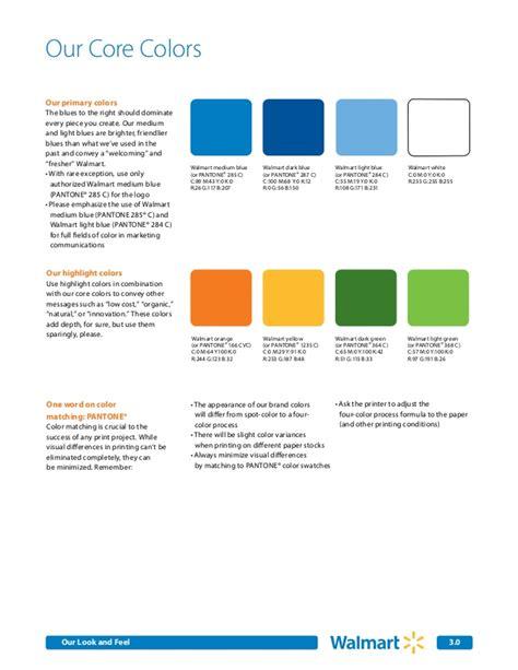 walmart colors walmart brand guidelines