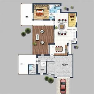 Plan Maison U : maison en u avec piscine les sables d 39 olonne depreux ~ Dallasstarsshop.com Idées de Décoration