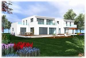 Maison Moderne Toit Plat : maison toit plat moderne etage ~ Nature-et-papiers.com Idées de Décoration