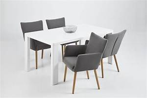 Fauteuil avec accoudoirs salle a manger galerie et nellie for Meuble salle À manger avec chaise de salle a manger noir et blanc