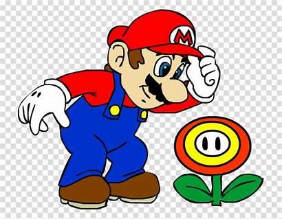Mario Fire Flower Drawing Super Cartoon Bros