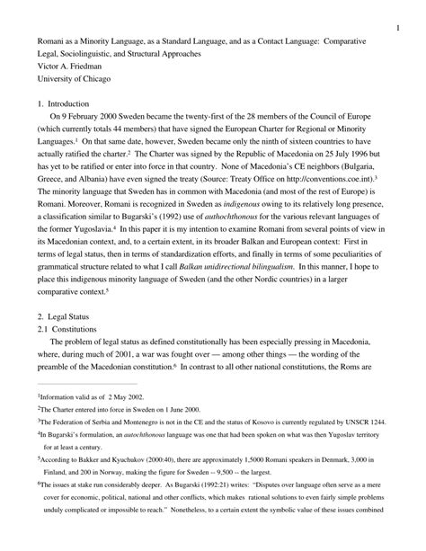 (PDF) Romani as a Minority Language, as a Standard