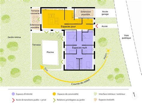 chambre en l superbe plan maison 6 chambres 1 plan maison en l avec