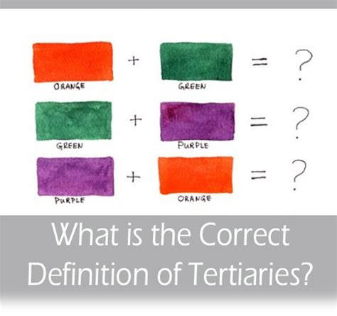 correct definition  tertiary colors