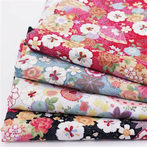 pcslot printed cotton fabric  diy patchwork fabric