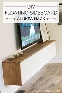 Tv Lowboard Ikea : diy floating sideboard tutorial ikea m bel hacks ikea ~ A.2002-acura-tl-radio.info Haus und Dekorationen