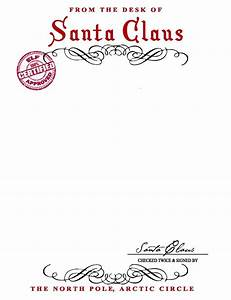 santa claus letterhead will bring lots of joy to With santa lettering