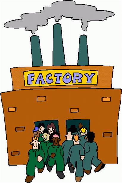 Factory Cartoon Clipart Manufacturing Clip Factories Cartoons