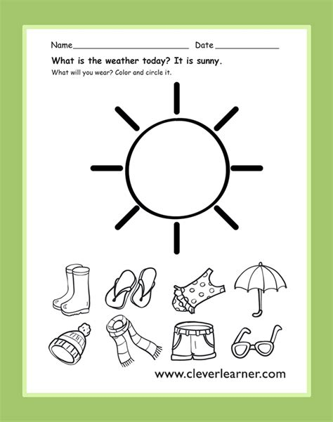 the weather today is preschool weather activity preschool weather worksheet preschool