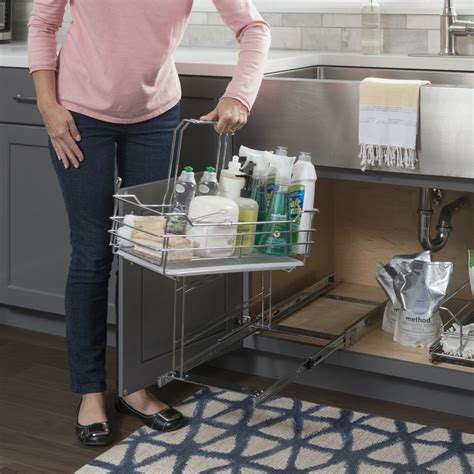 sink cleaning supply caddy pullout  handle