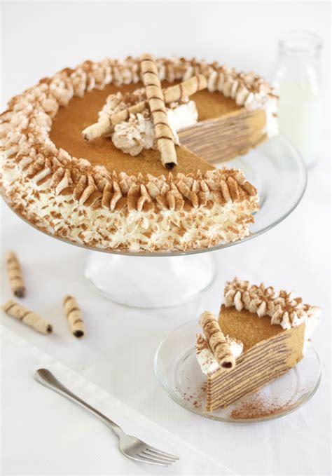 pumpkin bavarian crepe cake sprinkle bakes