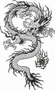 transparent chinese dragon tumblr black and white - Google ...