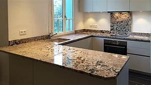 Plan De Travail Granit : plan de travail granit marbre et decoration ~ Dailycaller-alerts.com Idées de Décoration