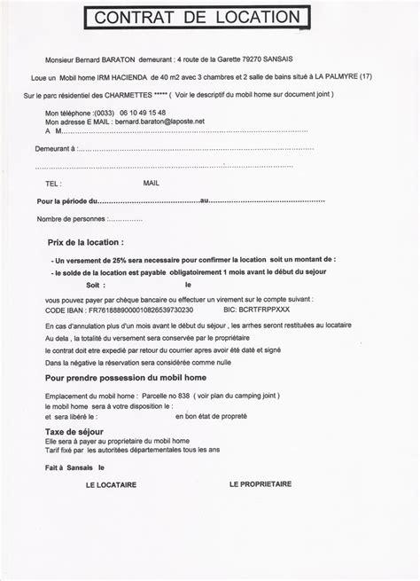 contrat location chambre bail de location non meuble gratuit 9 modele contrat de