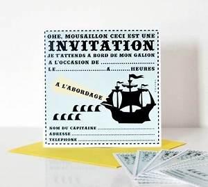 Carte Anniversaire Pour Enfant : cartes d 39 invitation pirate pour anniversaire enfant ~ Melissatoandfro.com Idées de Décoration
