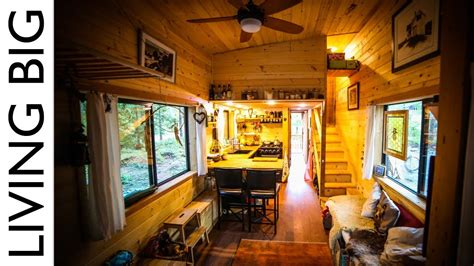natural build tiny house  family  separate office  kids bedroom