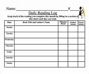 free printable 3rd grade reading log 9 printable reading With 4th grade reading log template