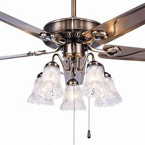 Led European Leaf Fan Lamp New Fan Ceiling Fan Light