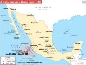 Mexico Earthquake Map
