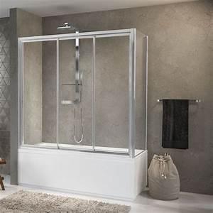 Cabine Douche 3 Parois Vitrées : pare baignoires aurora 3pv4 f novellini ~ Premium-room.com Idées de Décoration
