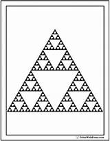 Coloring Triangle Shape Triangles Sierpinski Squares Circles sketch template