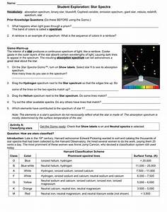 Student Exploration Collision Theory Worksheet Answers