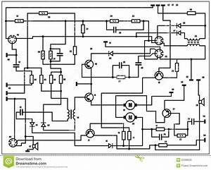Electric Scheme - Vector Background Stock Vector