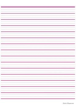 dotted thirds lined paper   kates klassroom tpt
