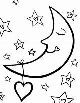 Moon Coloring Pages Stars Sleeping Sun Night Star Sky Drawing Crescent Colouring Printable Getcolorings Getdrawings Print Clipartmag Nightmare sketch template